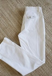 Versace white tapered jeans